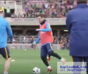 Video: Not Again LOL! Lionel Messi Humiliates Javier Mascherano With Nutmeg In Barca Training